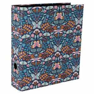 Lever Arch File - Navy Butterfly Folk art - HIgh quality - Paperchasse - (8330)