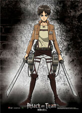 Wall Scroll - Attack on Titan - New Eren Pose Fabric Art Licensed ge60369