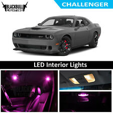 Pink LED Interior Lights Replacement Kit for 2018 Dodge Challenger 9 bulbs