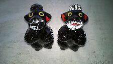 Antique Redware Ceramic Salt and Pepper Shakers Scottish Terriers VG MIJ Ex Cond