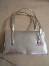 Mr. Bonhomme Vintage Silver Handbag Evening Bag  Purse Small 1970's