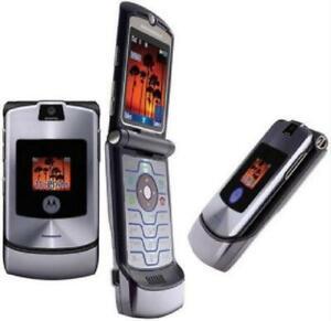 Original Motorola RAZR V3i Unlocked Mobile cell Phone GSM 1.2MP Camera Flip
