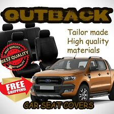 Ford Ranger Neoprene Tailor Made FRONT Row Seat Covers (Red Stitching)