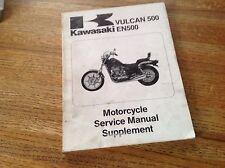 OEM Kawasaki 1990 Vulcan 500 EN500 Service Manual Supplement PN: 99924-1125-51