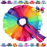 Brand New Girls Kids Rainbow Bowknot Tutu Children Dancewear Toddler Pettiskirt