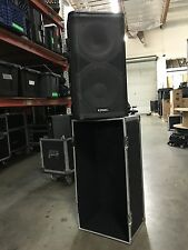 """Pair of QSC HPR 122I 12"""" 2 way powered loud speakers with bag (includes 2)"""