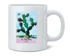 El Nopal Cactus Loteria Card Mexican Bingo Coffee Mug Tea Cup 12 oz