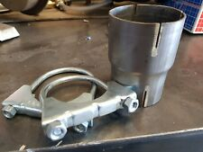 """EXHAUST PIPE REDUCER 2.5"""" TO 2.25"""" STAINLESS STEEL INCLUDING CLAMPS"""