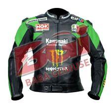 Motorrad , Motorradsport Motogp Kawasaki Lederjacke Grün, Rot, Weiß usw.