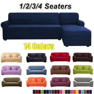 Elastic Slip Cover Spandex Stretch Sofa Couch Cover Furniture Protector 1/2/3/4