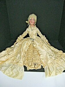 Antique composition smiling BOUDOIR bed doll Anita TURNING head & orig. costume
