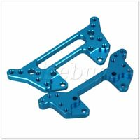 Aluminum 102022 102023 Front + Rear Shock Tower Blue for RC 1:10 HSP Model Car