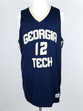 Georgia Tech Yellow Jackets #12 Russell Athletic Sewn Basketball Jersey Large