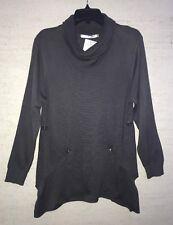 NWT Lulu B Gray Long Sleeve Cowl Turtleneck Swing Sweater Size M Great Gift!