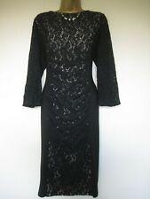 Phase Eight dark navy lace dress size 18