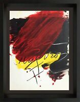 Antoni TAPIES Lithograph ORIGINAL LIMITED Ed. no. 83 Color Lithograph 1973