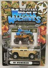 Muscle Machines H1 Hummer Tan Hot Rod w/Rubber Tires & Offroad Wheels MOC