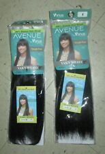 "AVENUE by VENUS Weave Extension Track Hair YAKY 8"" #1 Lot x 2 Human Hair Blend"