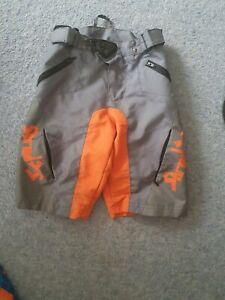 Shredxs Shorts childs youth mountain bike cycling hip padding orange enduro