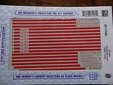 Microscale Decal HO  #87-1160  CP Passenger Cars  Dates: 1969-1978
