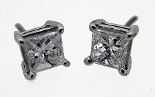 .88ct Princess Cut Diamond Stud Earrings F VVS1 Natural  Screw Back