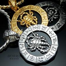 Scorpio Zodiac Scorpions Pendant Necklace 18k Gold & Silver Plated Mens Jewelry