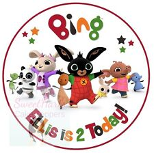 BING CBEEBIES CAKE TOPPER 7.5 INCHES ROUND PERSONALISED EDIBLE PRINTED ICING