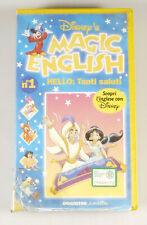 PRL) MAGIC ENGLISH N°1 CASSETTA VHS SCOPRI L' INGLESE CON DISNEY DE AGOSTINI