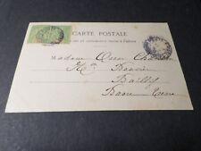 GUADELOUPE, 1900, timbre CLASSIQUE 40 des COLONIES sur CPA L ESPERANCE