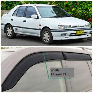 NE17390 Window Visors Vent Wide Deflectors For Nissan Pulsar Sd N14 1990-1995