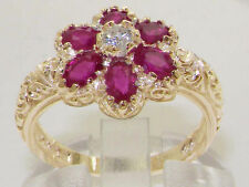 Anniversary Cluster Ruby Fine Rings