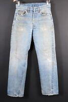VTG LEVI'S 501 Button Fly Redline Selvedge #6 Denim Jeans USA Size 31x36 (28x32)