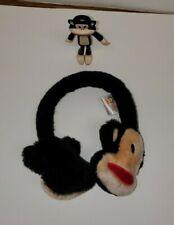 Paul Frank MONKEY EARMUFFS ear muffs earwarmers & Poseable Figure EXCELLENT
