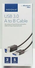Insignia USB 3.0 A to B Cable 3' for Windows or Mac