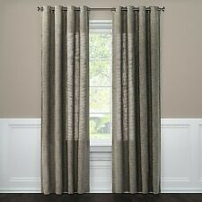 "Gray Textured Weave Back Tab Window Curtain Panel - 54"" x 95"""