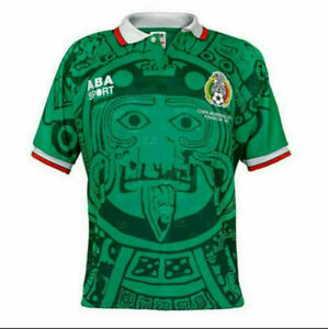 Mexico 1998 VINTAGE RETRO SOCCER FOOTBALL SHIRT JERSEY