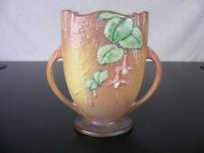 "Roseville Art Pottery Fuschia #896-8"" Vintage Pink Pillow Vase"