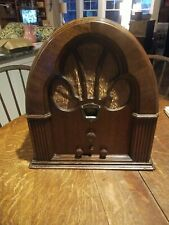 Vintage Philco Model 70 Cathedral Radio Working, Looks Great!