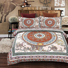 Bohemian Duvet Cover Bedding Set With Pillow Cases King Size Aura Quilt Cover