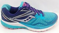 Saucony Ride 9 Athletic Running Shoes Sneakers Navy / Blue / Pink Womens 7.5
