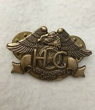 Vintage 1983 Pin Badge Harley-Davidson Harley Owners Group HOG Motorcycle