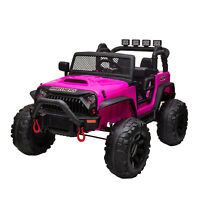 12V kids Ride On Truck Battery Powered Electric Car w/Remote Control LED Light