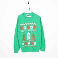 Vintage DOCTOR WHO Graphic Sweatshirt Jumper Green | Medium M