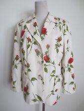 Kleider MANUFAKTUR HABSBURG Chaqueta Blazer 42 Blanco Flores Verde Rojo / MH