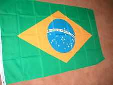 BRAZIL FLAG FLAGS 5'X3' POLYESTER BRAND NEW POST FREE IN UK