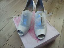 Ivory satin Peep Toes wedding Boots, Pink by Paradox Sexy Size 40,heel 9.5cm