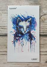 *UK SELLER* White Cat TEMPORARY TATTOOWaterproof Body Art /-a93-/
