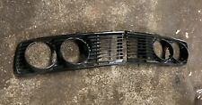 1981-1988 BMW E28 528e 533i 535is Headlight Grills Pair OEM Painted Black