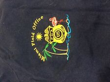 FDA Special Agent Miami Field Office Embroidered T-shirt Blue Vintage XL F64