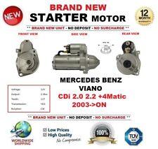 PARA MERCEDES BENZ VIANO CDi 2.0 2.2 +4Matic 03 EN ADELANTE MOTOR DE ARRANQUE